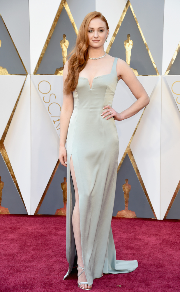 Sophie Turner attends the 88th Annual Academy Awards at Hollywood & Highland Center on February 28, 2016 in Hollywood, California.