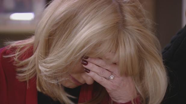 TOWIE: Carol Wright breaks down in tears. 6 March 2016.