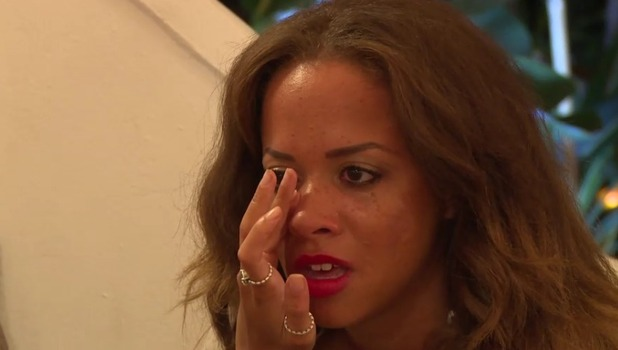 Ex On The Beach, Series 4, Episode 7 Olivia cries during heart to heart with James