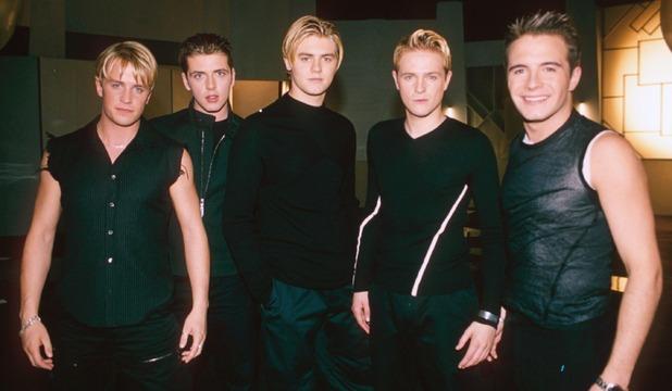 Westlife filming music video 1999
