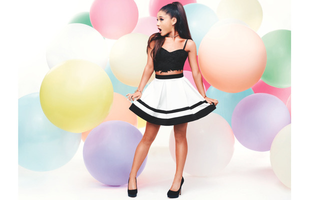 Ariana Grande poses in Lipsy co-ords, 2nd March 2016