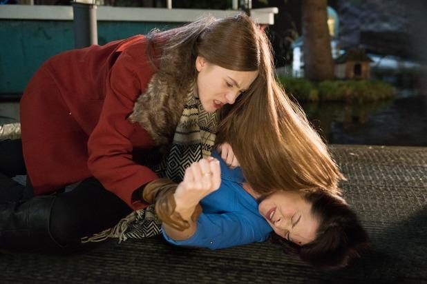 Hollyoaks, Nico attacks Sienna, Tue 8 Mar