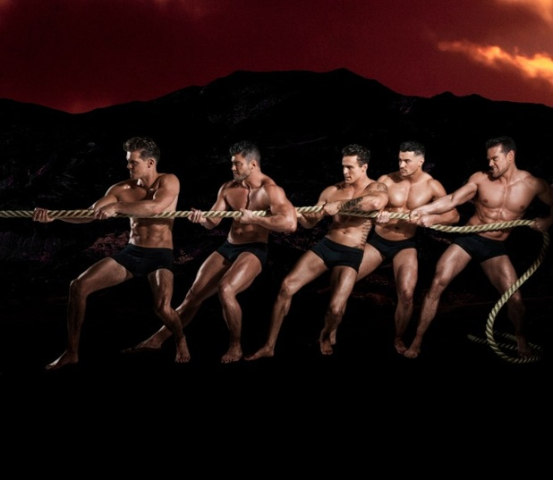 Gary Beadle and Scotty T, Dreamboys promo shots 1 March