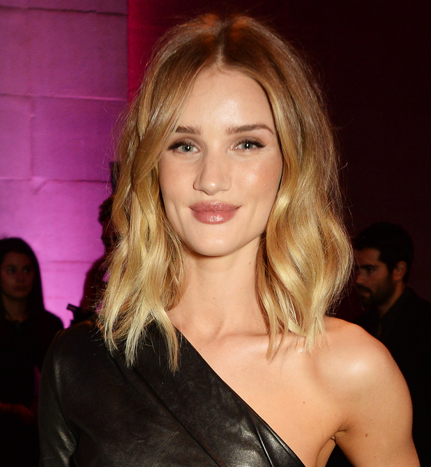 Rosie Huntington-Whiteley attends The Elle Style Awards 2016 after party on February 23, 2016 in London, England.