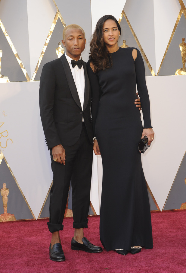 Pharrell Williams and Helen Lasichanh at The 88th Annual Academy Awards - 28 February 2015.