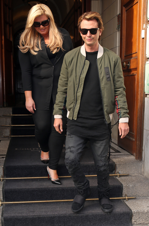 Gemma Collins and Jonathan Cheban seen leaving The Courthouse Hotel on February 29, 2016 in London, England.