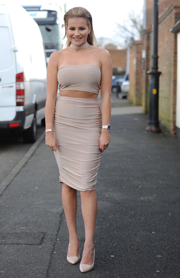 TOWIE star Georgia Kousoulou spotted filming in Essex, 2nd March 2016