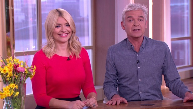 Phillip Schofield,Holly Willoughby This Morning, 1 March 2016