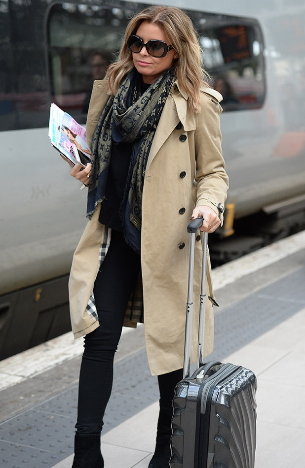 Jessica Wright arrives at Manchester Piccadilly train station, Manchester 3 March 2016