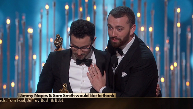 The 88th Oscars host by Chris Rock, live from the Dolby Theatre. As seen on ABC. Sam Smith Wins The Best Original Song Oscar.