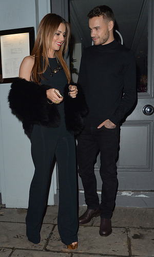 Cheryl Fernandez-Versini holds hands with her new boyfriend Liam Payne, as they leave Salmontini restaurant in Belgravia 9 March 2016