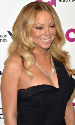 Mariah Carey at the 24th Annual Elton John AIDS Foundation's Oscar Viewing Party.