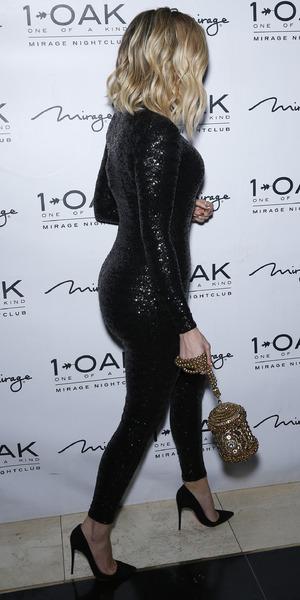 Khloe Kardashian attends Malika and Khadijah Haqq's Birthday at 1 Oak Nightclub, 11 March 2016.
