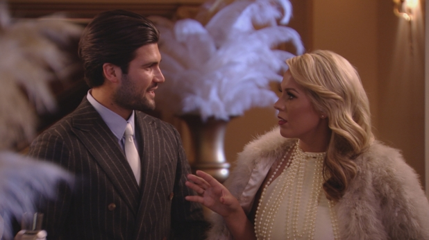 TOWIE: Kate Wright and Dan Edgar at the Great Gatsby themed party - 13 March 2016