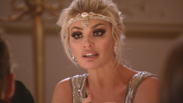 TOWIE - Chloe Sims argues with Megan, Courtney and Chloe M. 13 March 2016.