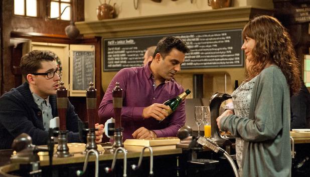 Emmerdale, Rakesh gets drunk, Wed 9 Mar