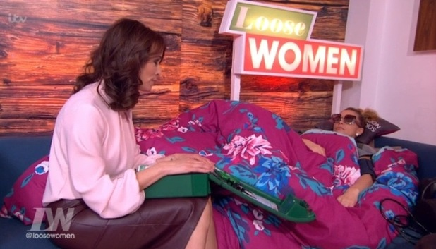 Katie Price falls ill backstage on Loose Women. 11 March 2016.