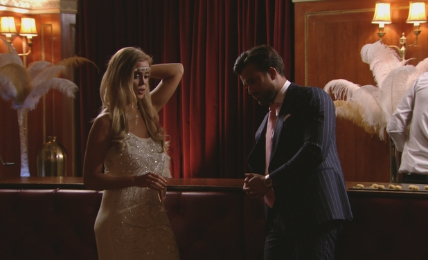 TOWIE: Chloe M talks to Mike at the Great Gatsby themed party - 13 March 2016
