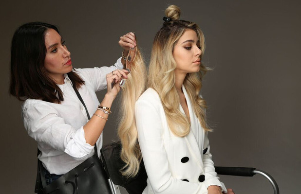 Kardashian hairstylist Jen Atkin using the Beauty Works extensions, 7th March 2016