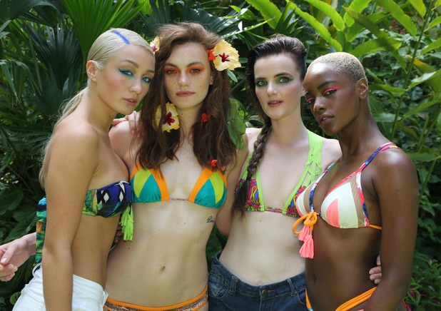 BNTM episode 9. The girls on a Radox shoot. 10 March 2016.