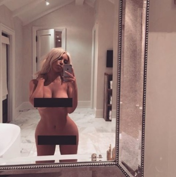 Kim Kardashian shares very naked selfie on Instagram and claims she has nothing to wear, 7th March 2016