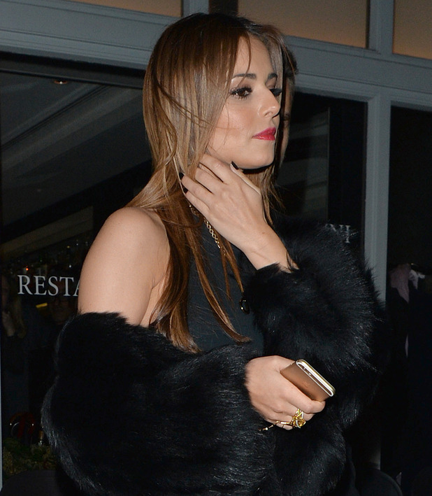 Cheryl Fernandez-Versini at Salmontini restaurant in Belgravia. 9 March 2016.
