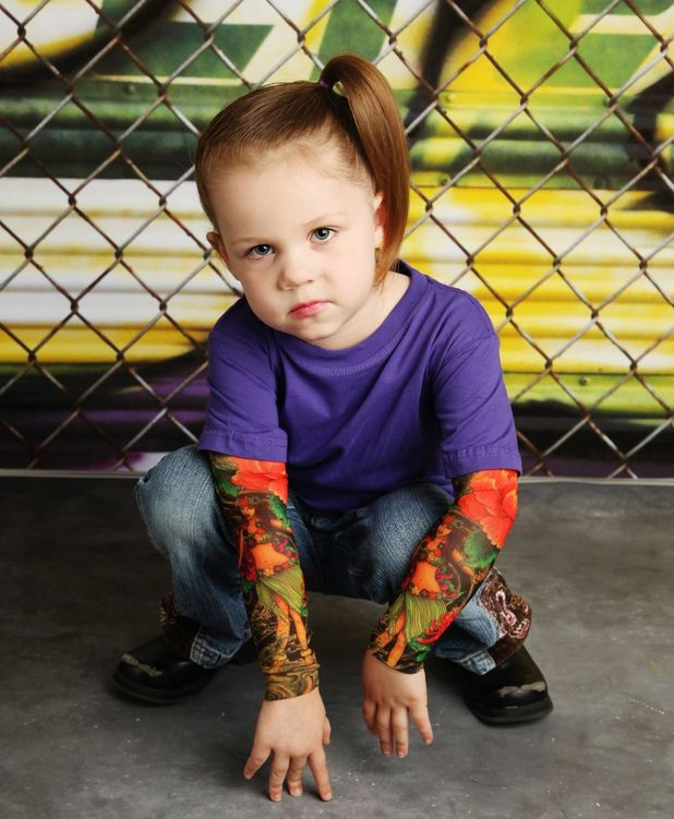 TotTude tattoo sleeves for babies were designed by Tera