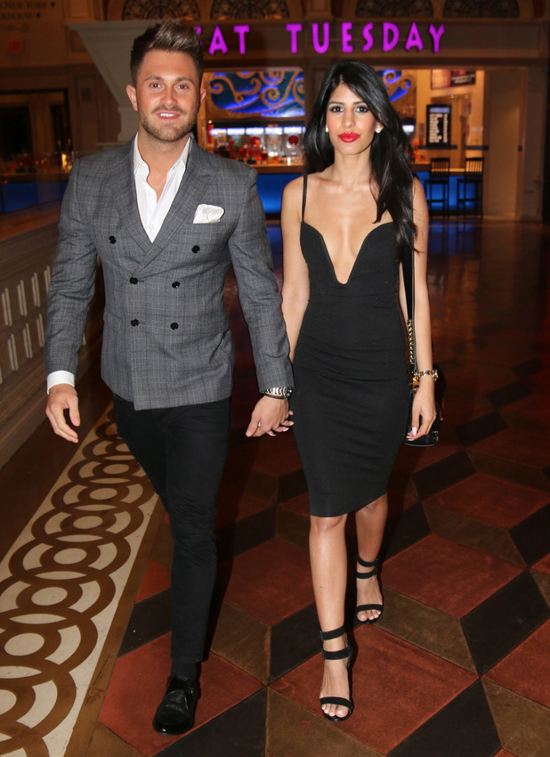 Jasmin Walia and boyfriend Ross Worswick out and about in Las Vegas, 6th March 2016