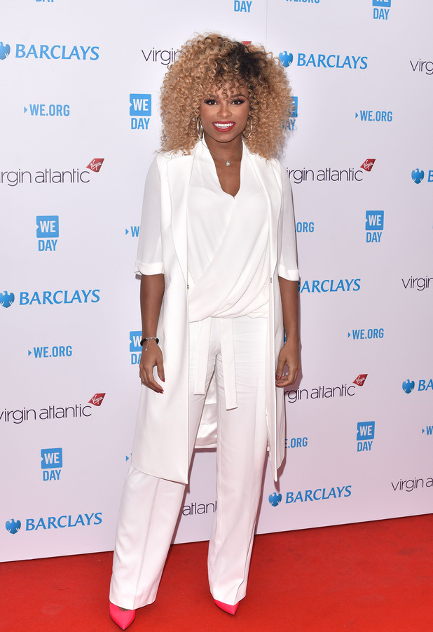 Fleur East attends the WE Day event in London, 9th March 2016
