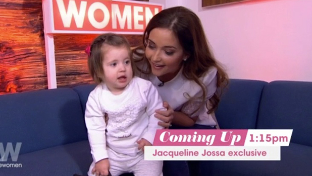 Jacqueline Jossa and baby Ella on Loose Women 8 March 2016