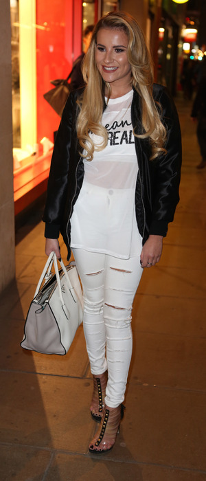TOWIE's Georgia Kousoulou shopping on Oxford Street, London, 17th March 2016