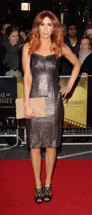 Stacey Solomon attends Game of Thrones: Hardhome screening in London, 14th March 2016