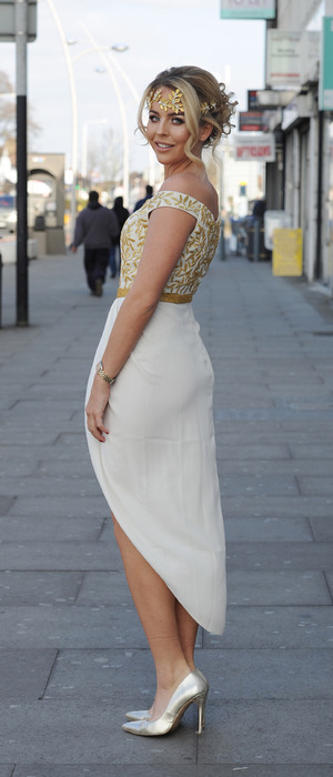 TOWIE's Lydia Bright attends Greek themed party at Faces, Essex 16th March 2016