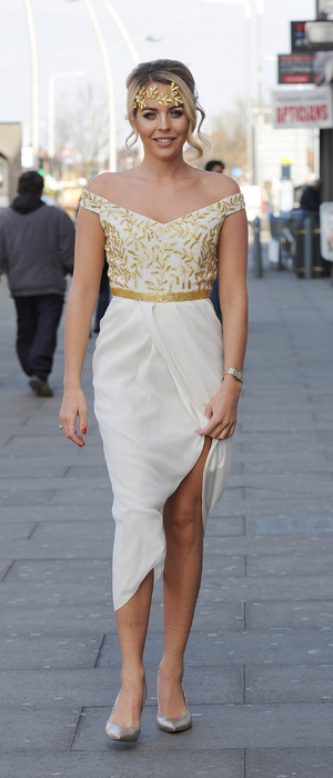 TOWIE's Lydia Rose Bright attends Greek themed party at Faces, Essex 16th March 2016