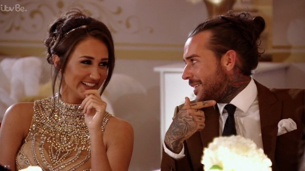 TOWIE Great Gatsby Party: Pete Wicks and Megan McKenna. 13 March 2016.
