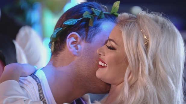 The Only Way Is Essex - Jon and Chloe at Greek party. Sunday 20 March 2016.