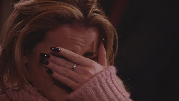 TOWIE: Georgia Kousoulou cries. 16 March 2016.