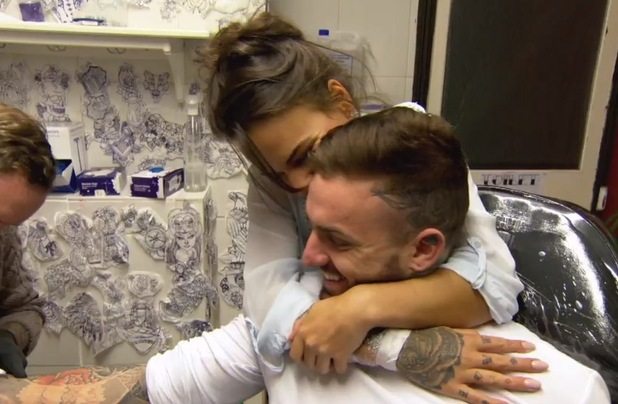 Aaron Chalmers and Chantelle Connelly tattoo date, Geordie Shore 22 March