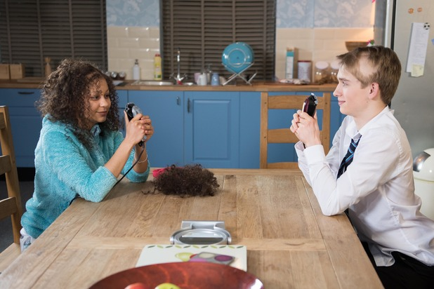 Hollyoaks, Jade and Alfie shave their heads, Thu 17 Mar