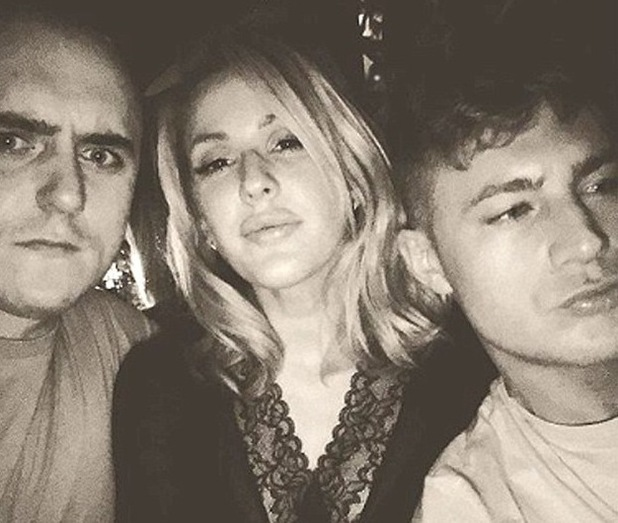 Scotty T parties with Ellie Goulding, Newcastle 16 March