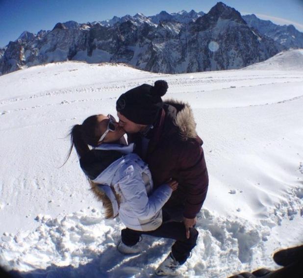 Rogan O'Connor and Chloe Francis skiing 17 March