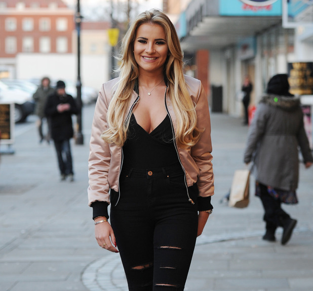 The cast of TOWIE - Georgia Kousoulou - film at Lockie's Kitchen in Romford. 25 February 2016.