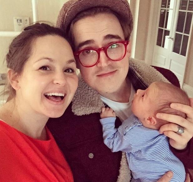 Tom Fletcher, Giovanna Fletcher and their youngest son Buddy Bob 16 March