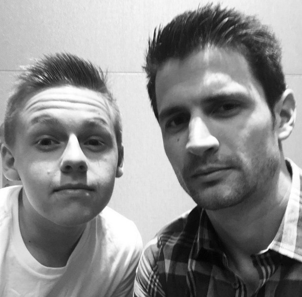 One Tree Hill reunion - James Lafferty with Jackson Brundage. 13 March 2016.