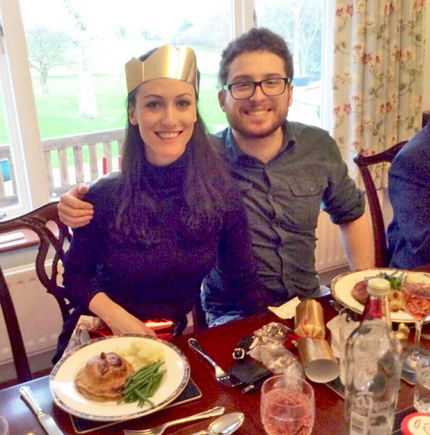 Mark Sims and Georgie Latcham - Christmas dinner