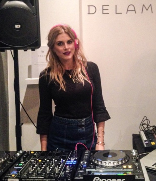 Ashley James DJs at Delam London launch party in Notting Hill, 16 March 2016