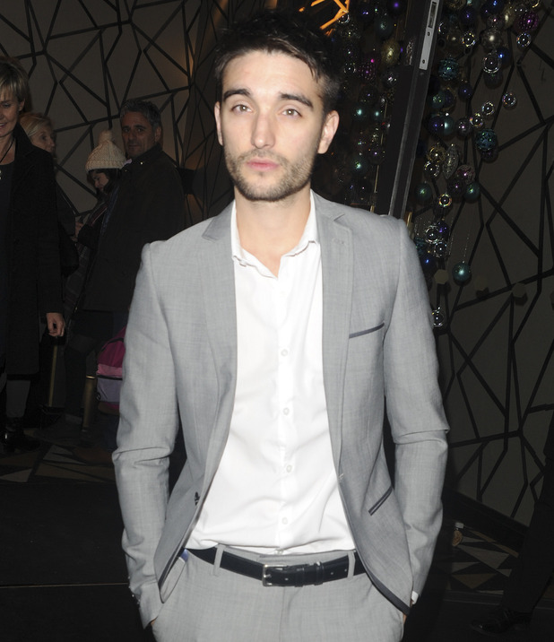 Tom Parker at the Fayre of St James after party. 24 November 2015.