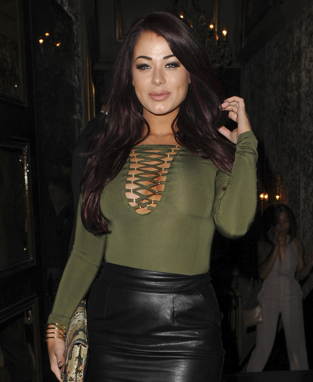 Love Island star Jess Hayes enjoys night out at Cafe De Paris in London, 12th March 2016