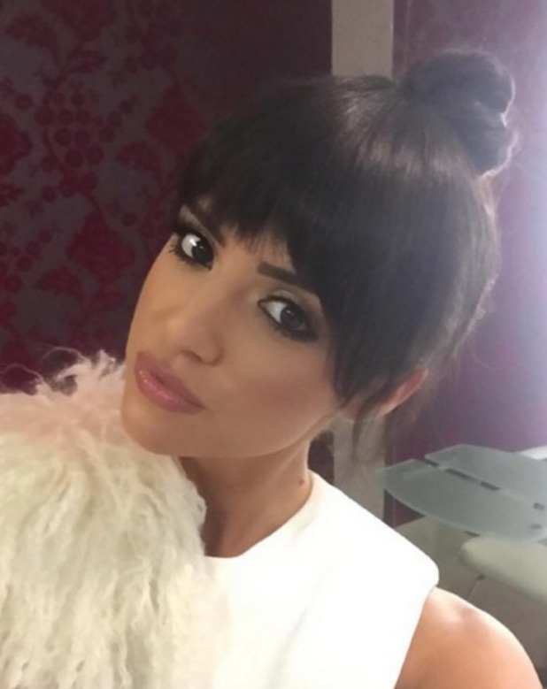 Lucy Mecklenburgh debuts choppy, Kendall Jenner-style fringe on Instagram, 16 March 2016