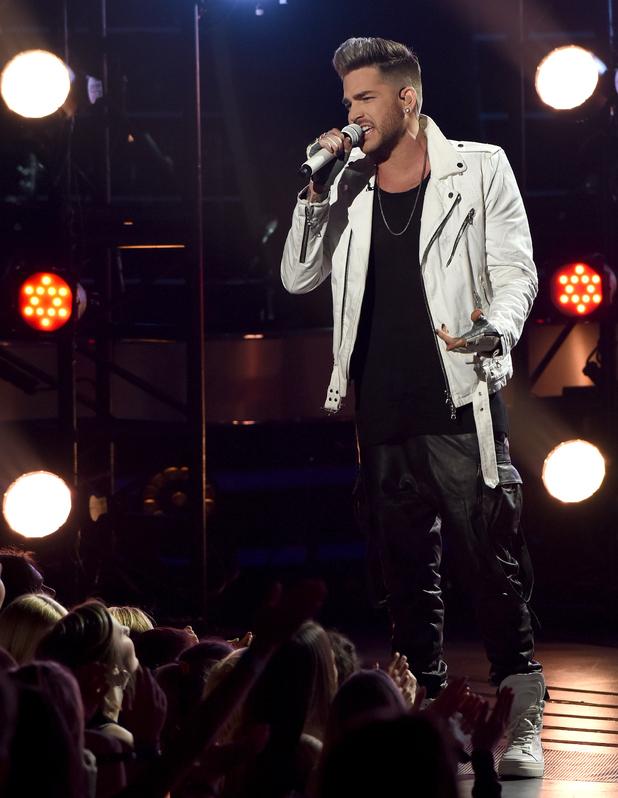 Singer Adam Lambert performs onstage at FOX's American Idol Season 15 on March 17, 2016 in Hollywood, California.